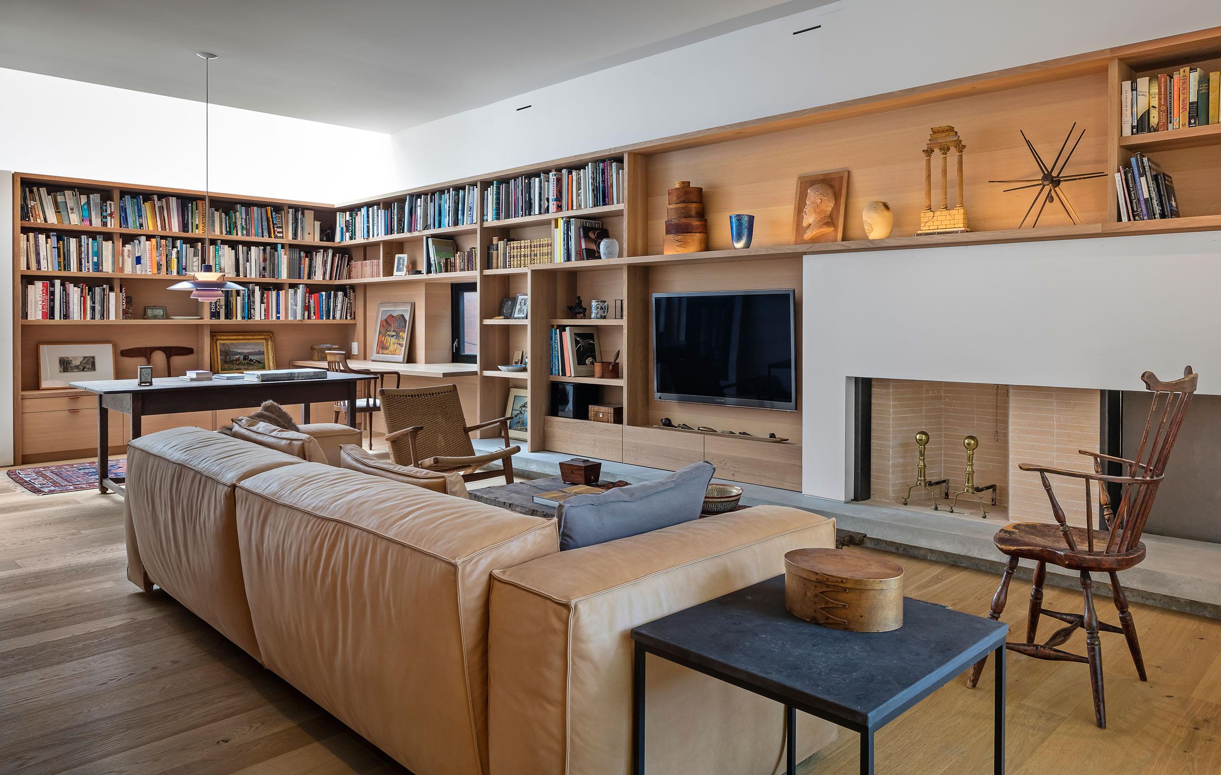 Markham residence den by Built Work Design