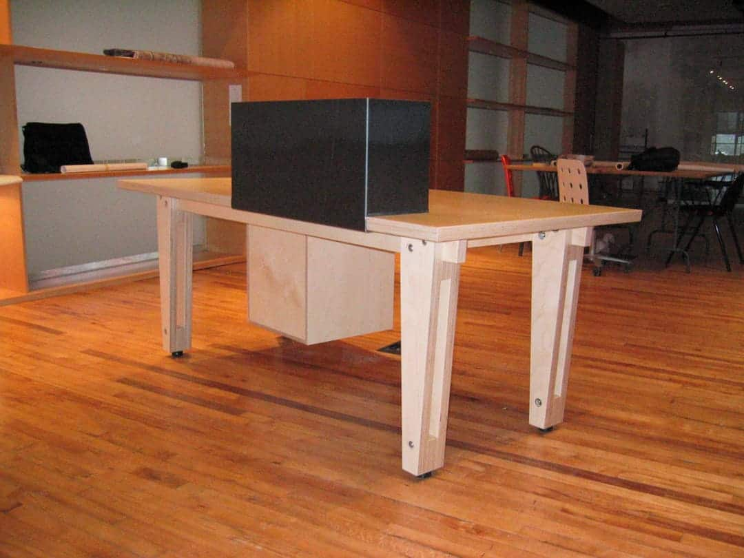 Desk prototype (back) by Built Work Design