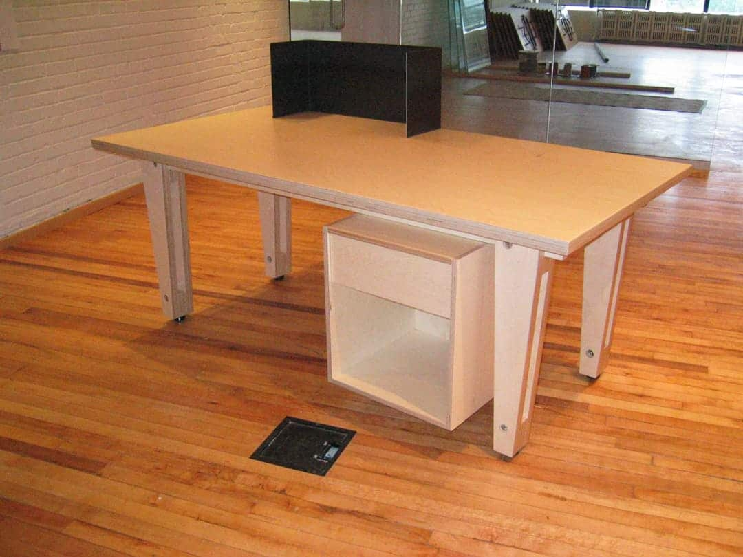 Desk prototype (front) by Built Work Design